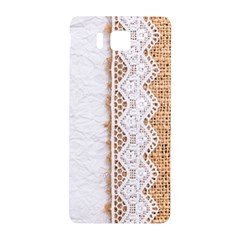 Parchement,lace And Burlap Samsung Galaxy Alpha Hardshell Back Case
