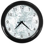 Countryblueandwhite Wall Clocks (Black) Front