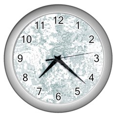 Countryblueandwhite Wall Clocks (silver)