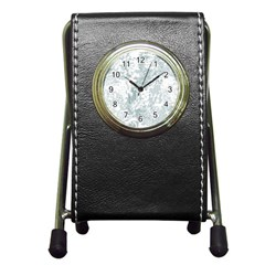 Countryblueandwhite Pen Holder Desk Clocks