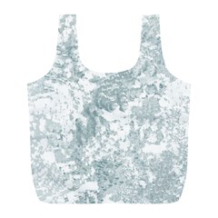 Countryblueandwhite Full Print Recycle Bags (l)