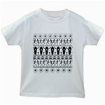 Halloween pattern Kids White T-Shirts Front