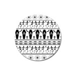 Halloween pattern Magnet 3  (Round) Front