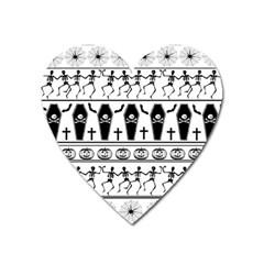 Halloween Pattern Heart Magnet
