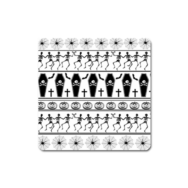 Halloween pattern Square Magnet