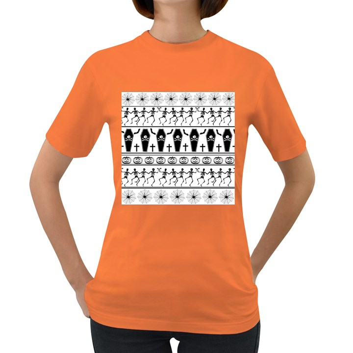 Halloween pattern Women s Dark T-Shirt