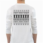 Halloween pattern White Long Sleeve T-Shirts Back