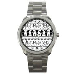 Halloween Pattern Sport Metal Watch