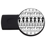 Halloween pattern USB Flash Drive Round (4 GB) Front