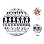 Halloween pattern Playing Cards (Round)  Front