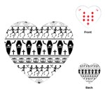 Halloween pattern Playing Cards (Heart)  Front