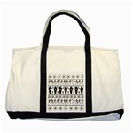 Halloween pattern Two Tone Tote Bag Front