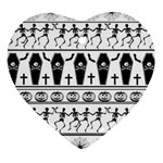 Halloween pattern Heart Ornament (Two Sides) Front