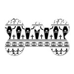 Halloween pattern Dog Tag Bone (Two Sides) Back