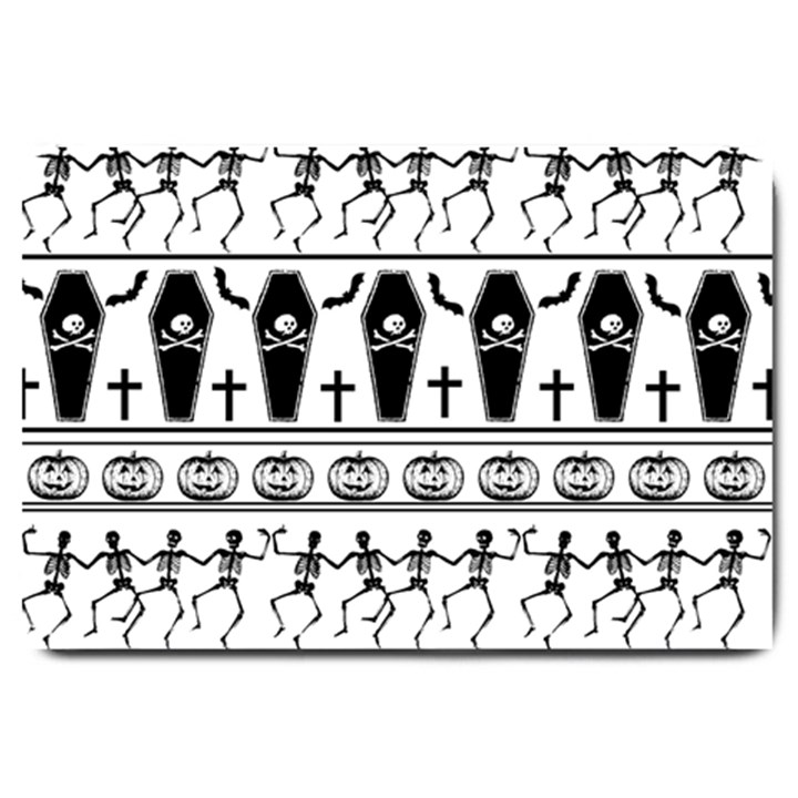 Halloween pattern Large Doormat