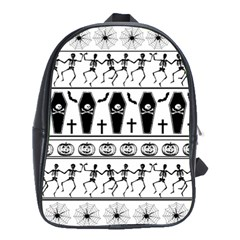 Halloween Pattern School Bag (large)