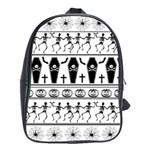 Halloween pattern School Bag (Large) Front