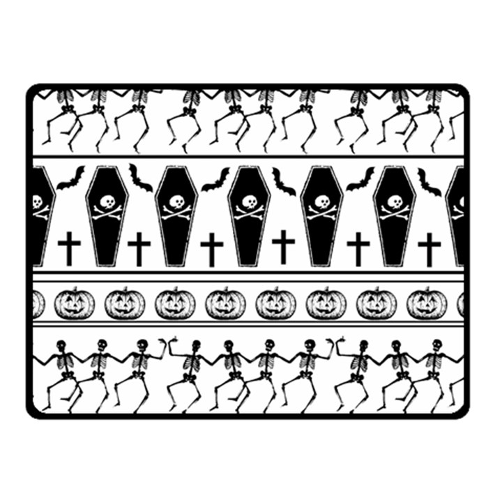 Halloween pattern Fleece Blanket (Small)