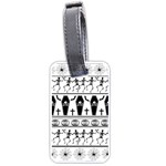 Halloween pattern Luggage Tags (One Side)  Front