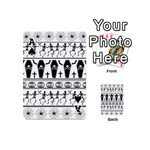 Halloween pattern Playing Cards 54 (Mini)  Front - SpadeA