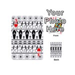 Halloween pattern Playing Cards 54 (Mini)  Front - Heart3