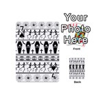 Halloween pattern Playing Cards 54 (Mini)  Front - Spade7