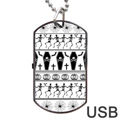 Halloween Pattern Dog Tag Usb Flash (one Side)