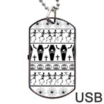 Halloween pattern Dog Tag USB Flash (One Side) Front