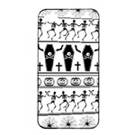Halloween pattern Apple iPhone 4/4s Seamless Case (Black) Front