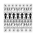 Halloween pattern Acrylic Tangram Puzzle (6  x 6 ) Front