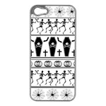 Halloween pattern Apple iPhone 5 Case (Silver) Front