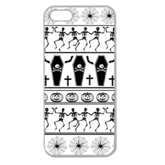 Halloween Pattern Apple Seamless Iphone 5 Case (clear)