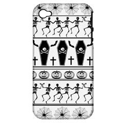 Halloween Pattern Apple Iphone 4/4s Hardshell Case (pc+silicone)