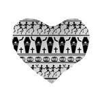 Halloween pattern Standard 16  Premium Heart Shape Cushions Front