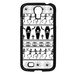 Halloween pattern Samsung Galaxy S4 I9500/ I9505 Case (Black) Front