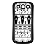 Halloween pattern Samsung Galaxy S3 Back Case (Black) Front