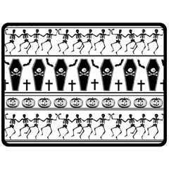 Halloween Pattern Double Sided Fleece Blanket (large)