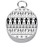 Halloween pattern Silver Compasses Front
