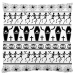 Halloween pattern Large Flano Cushion Case (Two Sides) Front