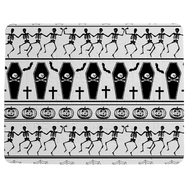 Halloween pattern Jigsaw Puzzle Photo Stand (Rectangular)