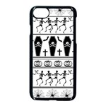 Halloween pattern Apple iPhone 7 Seamless Case (Black) Front
