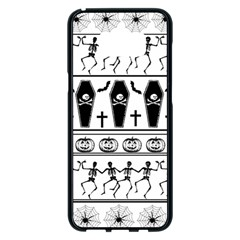 Halloween Pattern Samsung Galaxy S8 Plus Black Seamless Case