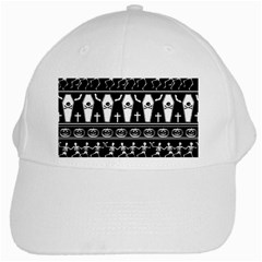 Halloween Pattern White Cap