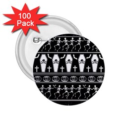 Halloween Pattern 2 25  Buttons (100 Pack)