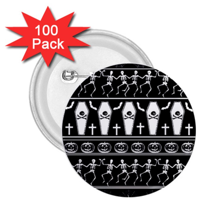 Halloween pattern 2.25  Buttons (100 pack)