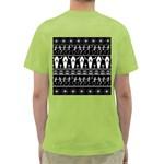 Halloween pattern Green T-Shirt Back