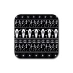 Halloween pattern Rubber Coaster (Square)  Front