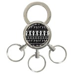 Halloween pattern 3-Ring Key Chains Front