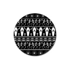 Halloween Pattern Magnet 3  (round)