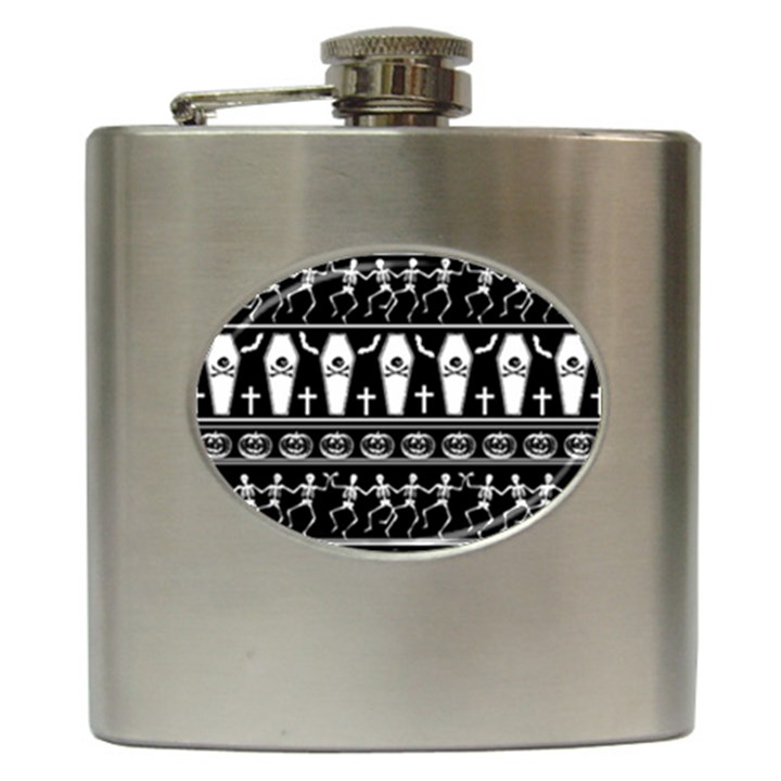Halloween pattern Hip Flask (6 oz)